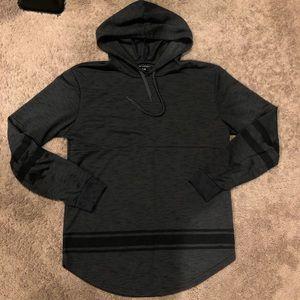 Grey Black Hoodie Shirt